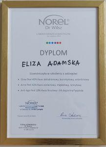 Dyplom Norel Eliza Adamska